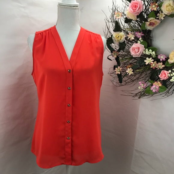 Banana Republic Tops - Banana Republic sleeveless orange blouse